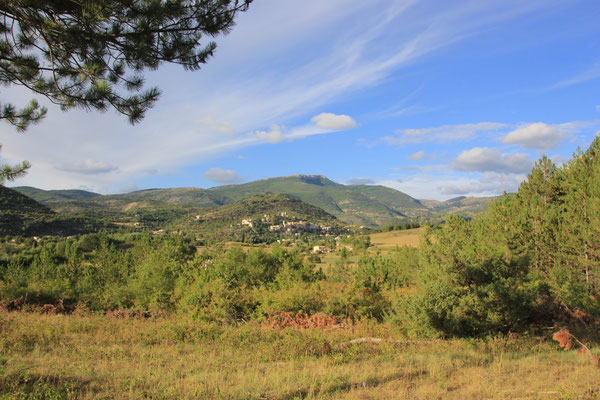 Standplatz gegenüber Montbrun les Bains