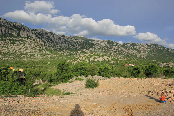 Standplatz Nähe Jablananc Hintergrund Velebit
