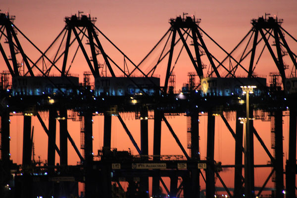 Hafen Alcaceiras Sonnenaufgang