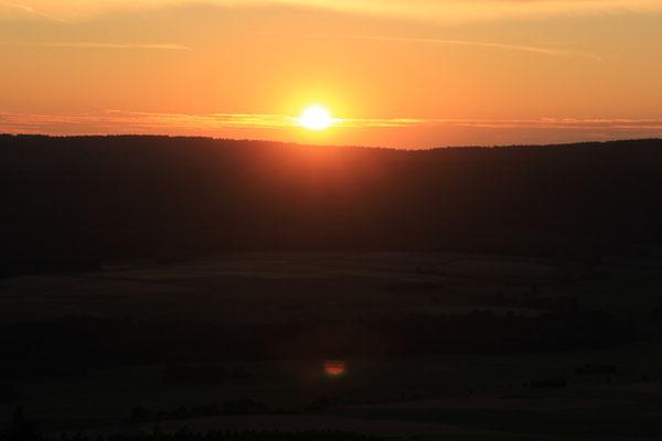 Sonnenuntergang, Wildenburg,Hunsrück