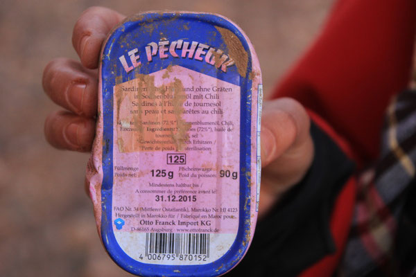 Fisch-Re-Import, Marokko-Deutschland-Marokko, aufgefunden