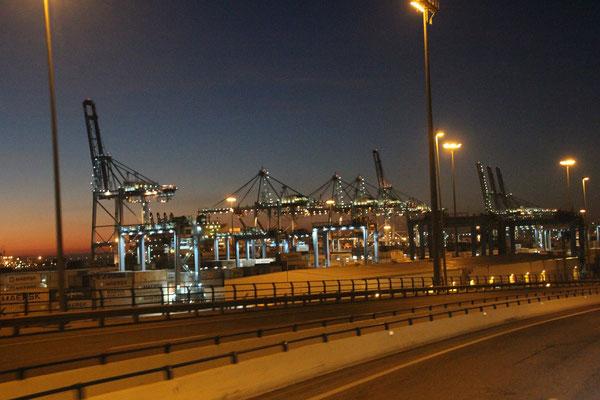 Fahrt zum Hafen Algeceiras