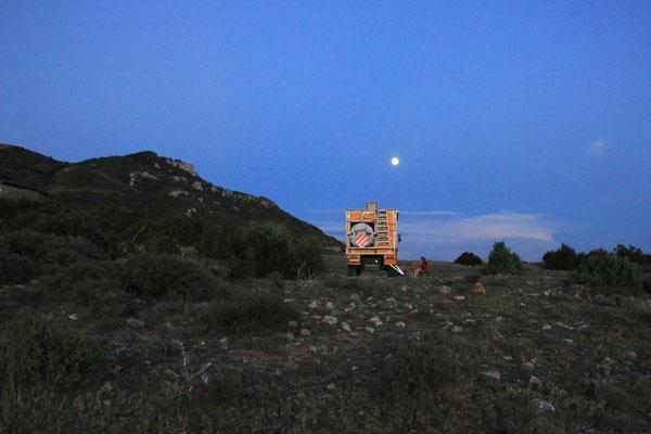 Standplatz Castillo Mauricello im Vollmond