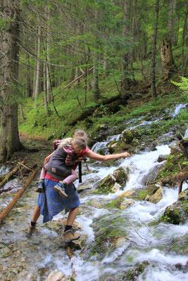 Wasserfalldurchquerung