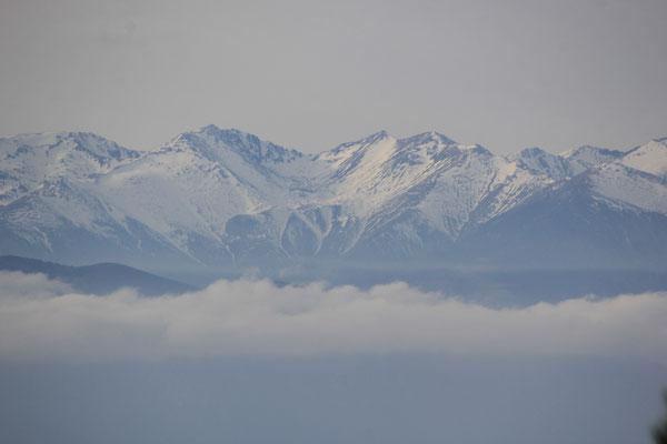 Blick in die Pyrenäen