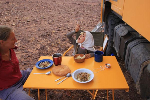 Abendessen auf ca. 1900 m