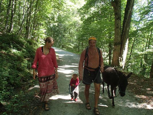 1. Eselausflug, Daxstein, bayrischer Wald