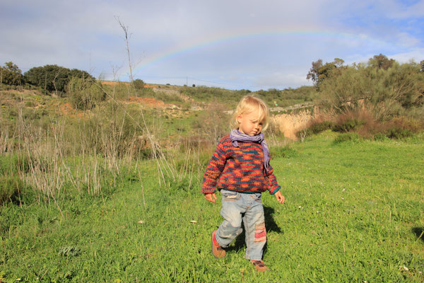 Sarah unterm Regenbogen