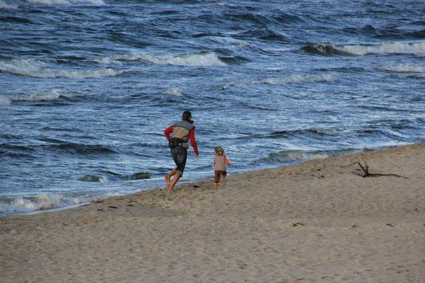 Strand beim Camp Tramp, Insel Wolin