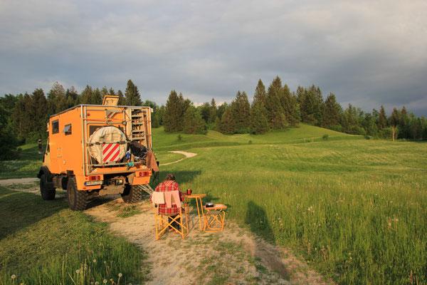 Standplatz nähe Kläranlage, Slowenien