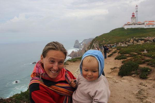 Stephanie,Sarah, Cabo <Roca, westlichster Punkt Europas