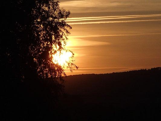Sonnenuntergang daheim