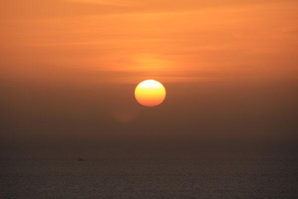 Sonnenuntergang Camping terre de ocean