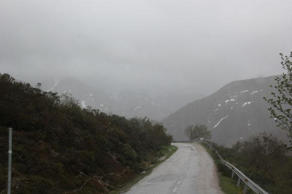 weiter durch die Picos im Regen
