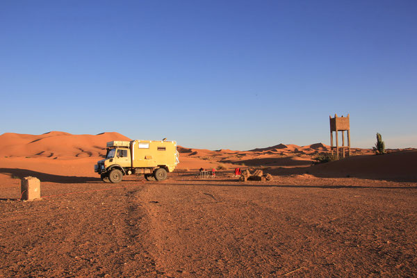 Standplatz  Camp Sable de Rose Erg Chebbi