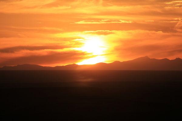 Sonnenuntergang, 2. Standplatz Piste Richt. Boudenib
