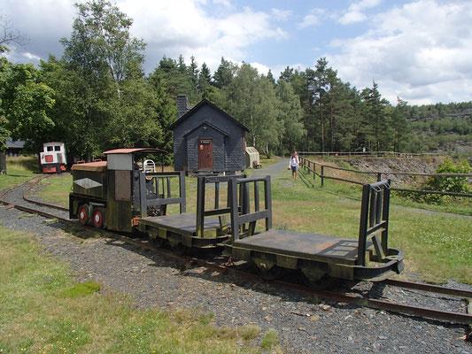 Bergwerkszug im Schieferpark