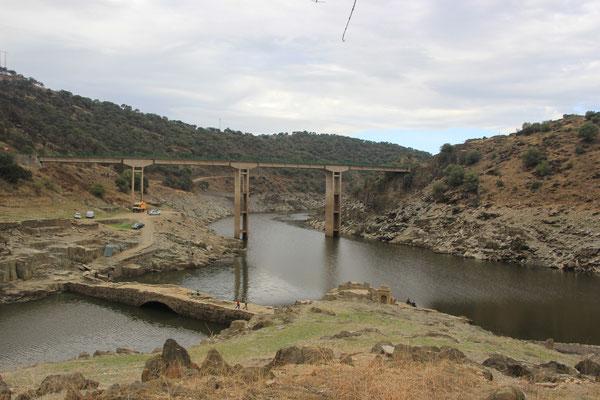 Standpatz unter der Brücke, Nähe Caceres