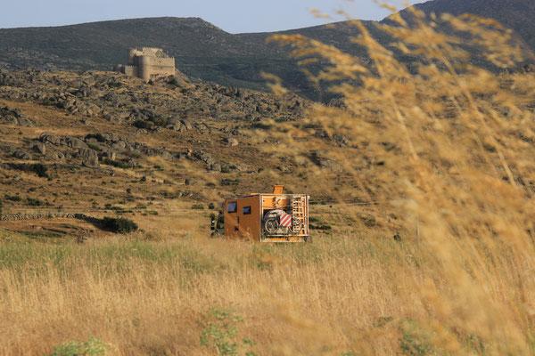 Standplatz unterhalb des Castello