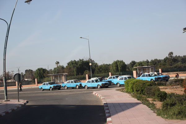 Taxistand Richtung Agadir