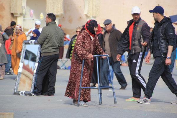 alte Frau, El Hedim, Meknes