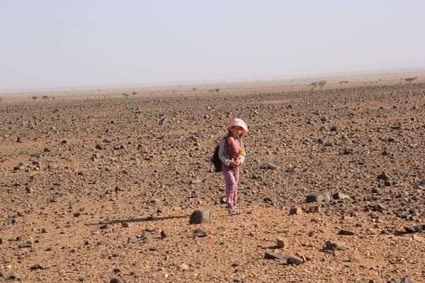 Wanderung in der Hammada