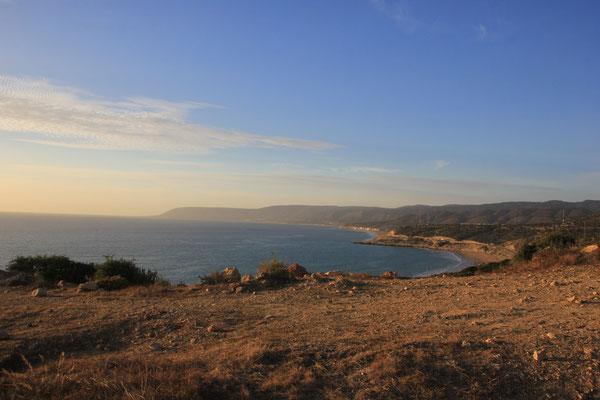 Sicht vom Standplatz Camping terre de ocean