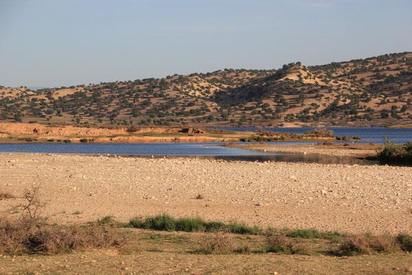 Standplatz Stausee ca. 160 km östlich von Agadir