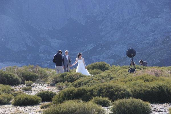 Hochzeitsfotoshooting auf ca. 1600 m, bei unserem Standplatz
