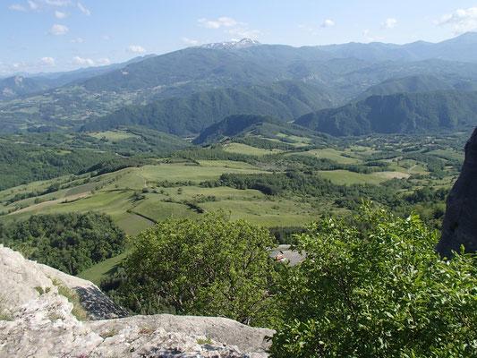 Blick von der Pietra di Bismantova