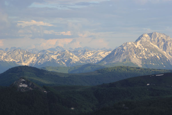 Panorama vom Standplatz, NP Biogradska 2000 m
