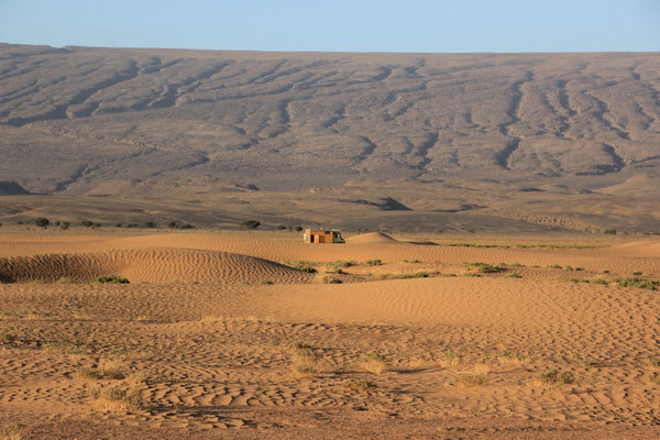 1. Standplatz, Rand Lac Iriki, Piste Foum-Zguid  - Mhamid