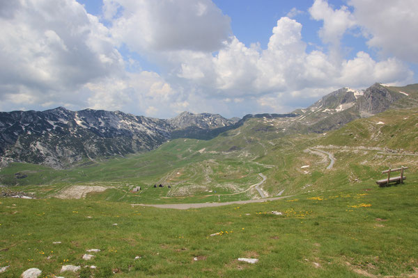 Fahrt zum Sedlo Pass Richtung Piva-Stausee