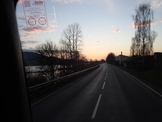 Morgenstimmung bei Passau bei der Arbeit