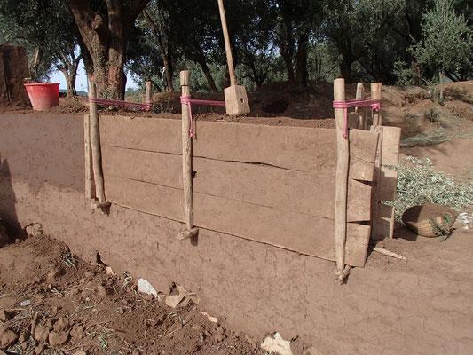 Lehmmauer bauen