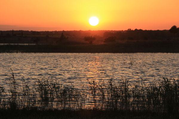 Sonnenuntergang am Embalse de San Bartolomä