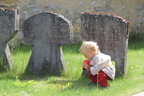 Sarah auf dem Friedhof, Kloster Beuron