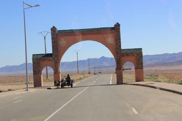Tor in Richtung Figueg in Bouafra