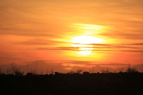 Sonnenuntergang am Standplatz bei Ghasat