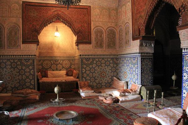 Innenraum eines Palasthauses in Meknes