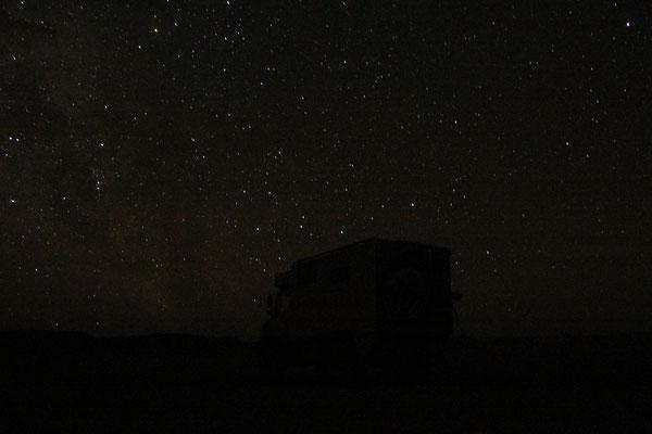 Nachts am Standplatz 5, Zagora-Merzouga
