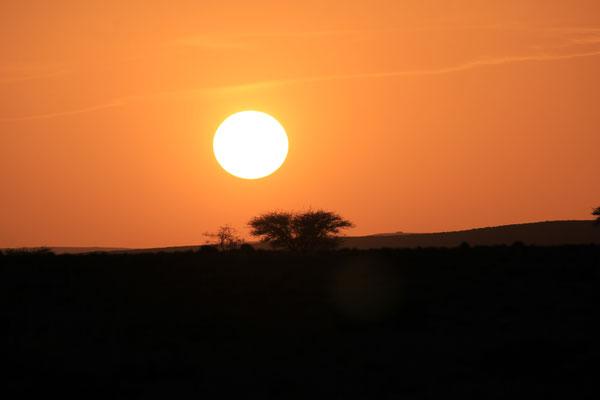 Sonnenuntergang am Stpl. 5
