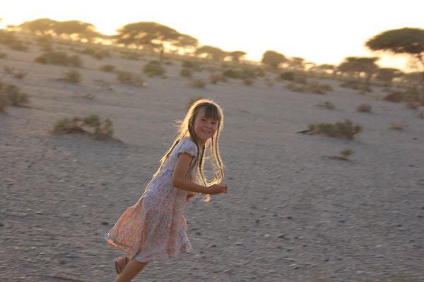 Fangespiel in der Wüste