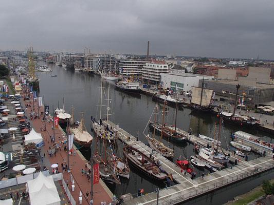 Hafen von Bremerhafen vom Riesenrad