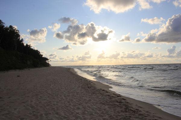 Abendstimmung am Strand, Ostsee Insel Wolin