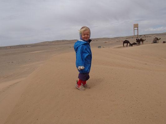 Sarah, windiger Tag, Etoile le dune