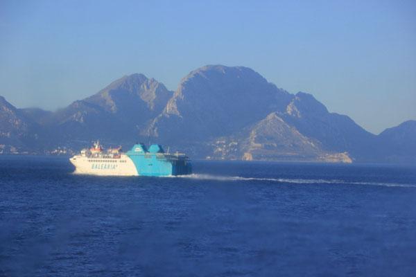 Fährboot auf dem Weg nach Marokko