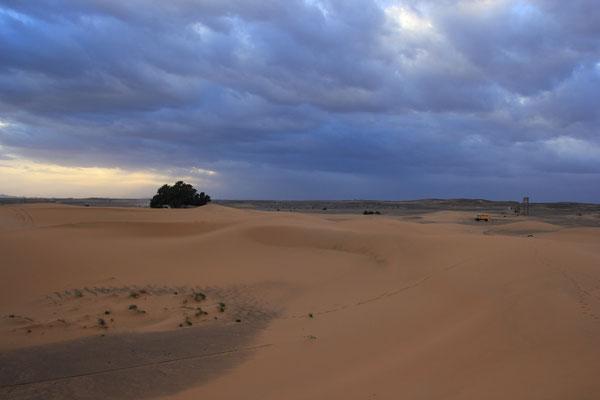 Abendstimmung Standplatz Etoile de Dune