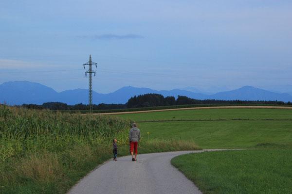 Spaziergang an ruhigem Standplatz