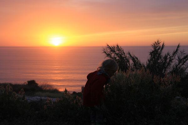 Sarah im Sonnenuntergang terre de ocean ,
